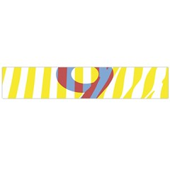 Number 9 Line Vertical Yellow Red Blue White Wae Chevron Flano Scarf (large) by Mariart