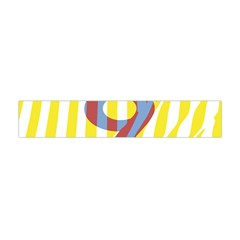 Number 9 Line Vertical Yellow Red Blue White Wae Chevron Flano Scarf (mini) by Mariart