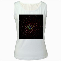 Molecular Chemistry Of Mathematical Physics Small Army Circle Women s White Tank Top