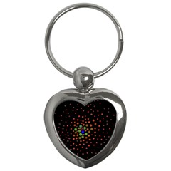 Molecular Chemistry Of Mathematical Physics Small Army Circle Key Chains (heart)  by Mariart