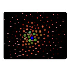 Molecular Chemistry Of Mathematical Physics Small Army Circle Double Sided Fleece Blanket (small)  by Mariart