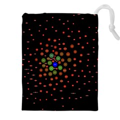 Molecular Chemistry Of Mathematical Physics Small Army Circle Drawstring Pouches (xxl) by Mariart