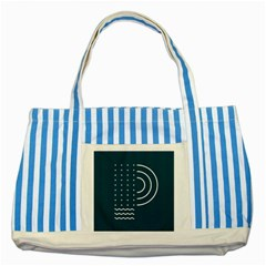 Parachute Water Blue Waves Circle White Striped Blue Tote Bag by Mariart