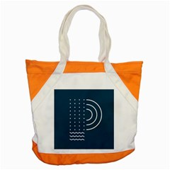 Parachute Water Blue Waves Circle White Accent Tote Bag by Mariart