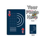 Parachute Water Blue Waves Circle White Playing Cards 54 (Mini)  Front - Heart3