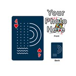 Parachute Water Blue Waves Circle White Playing Cards 54 (Mini)  Front - Heart4