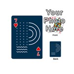 Parachute Water Blue Waves Circle White Playing Cards 54 (Mini)  Front - Heart7