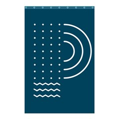 Parachute Water Blue Waves Circle White Shower Curtain 48  X 72  (small)  by Mariart