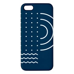 Parachute Water Blue Waves Circle White Iphone 5s/ Se Premium Hardshell Case by Mariart