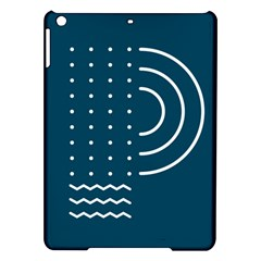 Parachute Water Blue Waves Circle White Ipad Air Hardshell Cases by Mariart