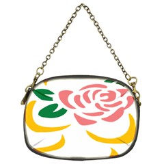 Pink Rose Ribbon Bouquet Green Yellow Flower Floral Chain Purses (two Sides)  by Mariart