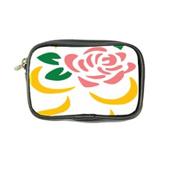Pink Rose Ribbon Bouquet Green Yellow Flower Floral Coin Purse by Mariart