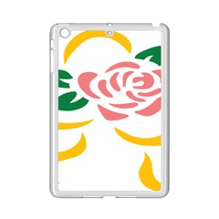 Pink Rose Ribbon Bouquet Green Yellow Flower Floral Ipad Mini 2 Enamel Coated Cases by Mariart