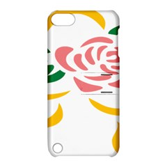 Pink Rose Ribbon Bouquet Green Yellow Flower Floral Apple Ipod Touch 5 Hardshell Case With Stand by Mariart