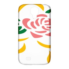 Pink Rose Ribbon Bouquet Green Yellow Flower Floral Samsung Galaxy S4 Classic Hardshell Case (pc+silicone) by Mariart