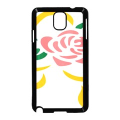Pink Rose Ribbon Bouquet Green Yellow Flower Floral Samsung Galaxy Note 3 Neo Hardshell Case (black) by Mariart
