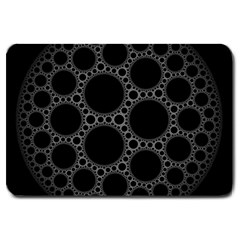 Plane Circle Round Black Hole Space Large Doormat  by Mariart