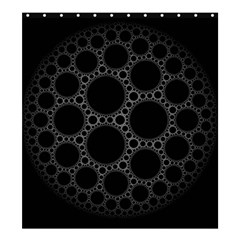 Plane Circle Round Black Hole Space Shower Curtain 66  X 72  (large)  by Mariart