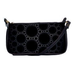 Plane Circle Round Black Hole Space Shoulder Clutch Bags by Mariart