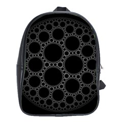 Plane Circle Round Black Hole Space School Bags (xl)  by Mariart