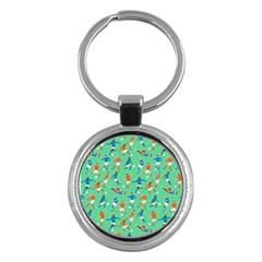 Players Football Playing Sports Dribbling Kicking Goalkeepers Key Chains (round)  by Mariart