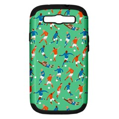 Players Football Playing Sports Dribbling Kicking Goalkeepers Samsung Galaxy S Iii Hardshell Case (pc+silicone)