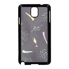 Bottle Party Glasses Samsung Galaxy Note 3 Neo Hardshell Case (black) by Mariart