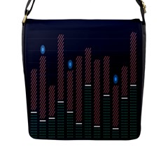 Plaid Line Circle Polka Green Red Blue Flap Messenger Bag (l)  by Mariart