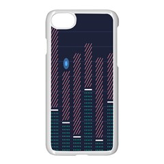 Plaid Line Circle Polka Green Red Blue Apple Iphone 7 Seamless Case (white) by Mariart