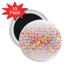 Random Sized Cube Multiple Plaid Color Rainbow 2 25  Magnets (10 Pack)  by Mariart