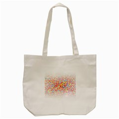 Random Sized Cube Multiple Plaid Color Rainbow Tote Bag (cream) by Mariart