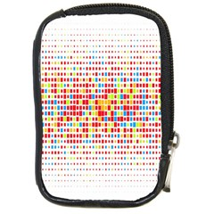 Random Sized Cube Multiple Plaid Color Rainbow Compact Camera Cases