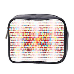 Random Sized Cube Multiple Plaid Color Rainbow Mini Toiletries Bag 2 Side by Mariart