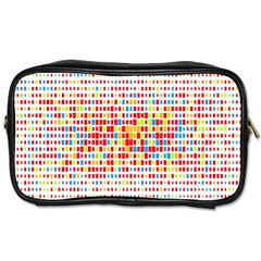 Random Sized Cube Multiple Plaid Color Rainbow Toiletries Bags by Mariart