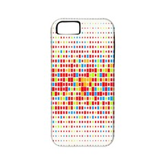 Random Sized Cube Multiple Plaid Color Rainbow Apple Iphone 5 Classic Hardshell Case (pc+silicone) by Mariart