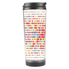 Random Sized Cube Multiple Plaid Color Rainbow Travel Tumbler by Mariart