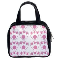 Rabbit Feet Paw Pink Foot Animals Classic Handbags (2 Sides) by Mariart