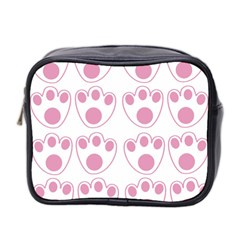 Rabbit Feet Paw Pink Foot Animals Mini Toiletries Bag 2 Side by Mariart