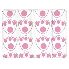 Rabbit Feet Paw Pink Foot Animals Samsung Galaxy Tab 7  P1000 Flip Case by Mariart