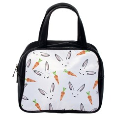 Rabbit Carrot Pattern Weft Step Face Classic Handbags (one Side) by Mariart