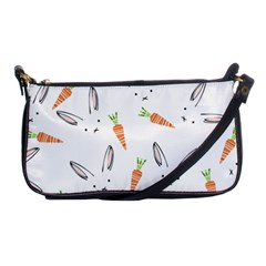 Rabbit Carrot Pattern Weft Step Face Shoulder Clutch Bags by Mariart