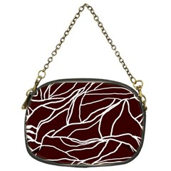 River System Line Brown White Wave Chevron Chain Purses (one Side)  by Mariart