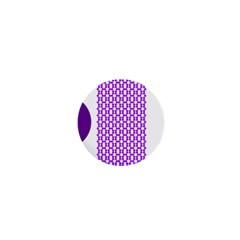 River Hyacinth Polka Circle Round Purple White 1  Mini Magnets by Mariart