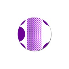 River Hyacinth Polka Circle Round Purple White Golf Ball Marker (4 Pack) by Mariart