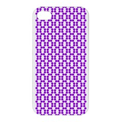 River Hyacinth Polka Circle Round Purple White Apple Iphone 4/4s Hardshell Case by Mariart