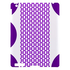 River Hyacinth Polka Circle Round Purple White Apple Ipad 3/4 Hardshell Case by Mariart