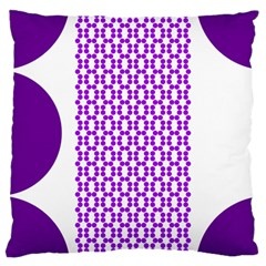 River Hyacinth Polka Circle Round Purple White Large Cushion Case (two Sides) by Mariart
