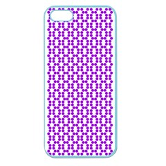 River Hyacinth Polka Circle Round Purple White Apple Seamless Iphone 5 Case (color) by Mariart