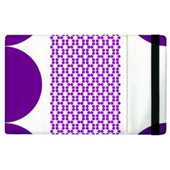 River Hyacinth Polka Circle Round Purple White Apple Ipad 2 Flip Case by Mariart