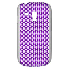 River Hyacinth Polka Circle Round Purple White Galaxy S3 Mini by Mariart